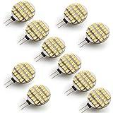 10 X G4 Ampoule Spot 3528 SMD 24 LEDs Blanc Chaud 3000-3300K 12V DC