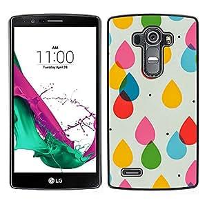 """Pulsar Snap-on Series Teléfono Carcasa Funda Case Caso para LG G4 , Gotas de agua para niños Colores en colores pastel del lunar"""""""