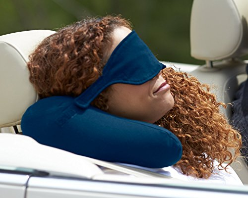 yogibo nap x neck pillow with built in sleeping mask soft cotton