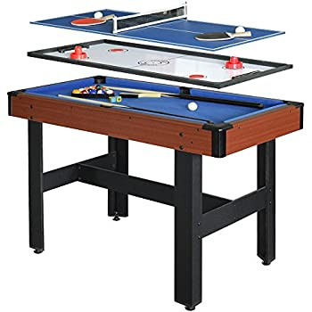 Etonnant HATHAWAY BG1131M Triad 3 In 1 48 In Multi Game Table With Pool, Glide  Hockey, And Table Tennis For Family Game Rooms
