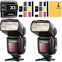 GODOX TT685F HSS 2.4G TTL GN60 2X Camera Flash High-Speed Sync External TTL For Fujifilm Camera X-Pro2 X-T20 X-T1 X-T2 X-Pro1 X100F,GODOX X1T-F Flash Trigger Transmitter for Fuji DSLR Cameras