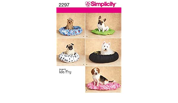 Simplicity 2297 - Patrones de costura para camas para perros (talla única): Amazon.es: Hogar