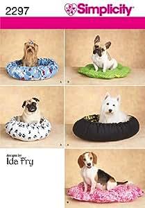Simplicity 2297 - Patrones de costura para camas para perros (talla única)