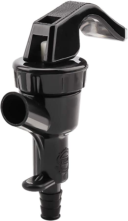 Picnic Tap Faucet Keg Draft Beer Dispensing With SS Hose Clamp Black Squeeze New