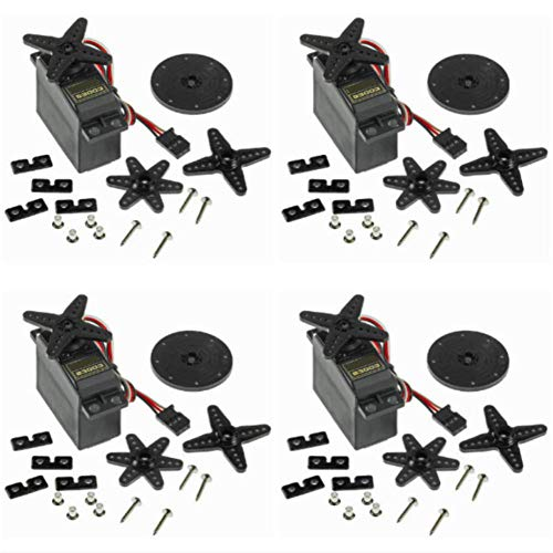 (RGBZONE 4PCS S3003 Servo Motor Standard RC Servo High Speed for Smart Car Robot Boat RC Helicopter)