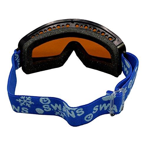 アスナロ(スキー小物)SWANS(スワンズ)子供用スキースノーボード用ゴーグルF黒-オレンジ