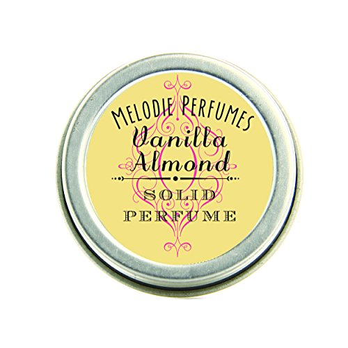 Vanilla Almond perfume solid by Melodie Perfumes. Essential oil, All natural fragrance, vegan. Natural perfume.
