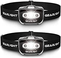 GearLight LED Headlamp Flashlight S500 [2 Pack] - Running, Camping, and Outdoor Headlight Headlamps - Head Lamp with Red...