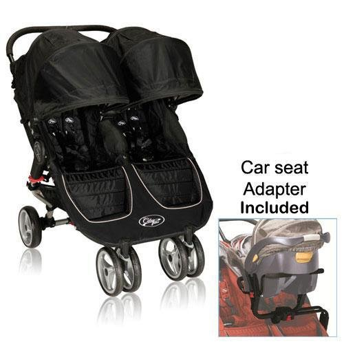 Baby Jogger 12210 City Mini Double Stroller In Black Gray With New Car Seat Adapter