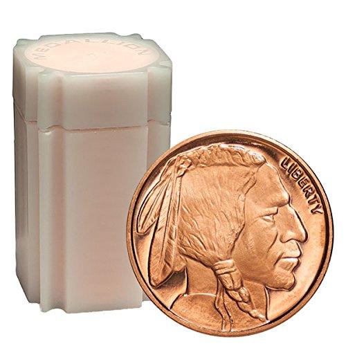 20 Rounds- Buffalo Nickel 1/4 .999 Copper Bullion Rounds