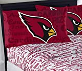 NFL Anthem Arizona Cardinals Bedding Sheet Set: Full