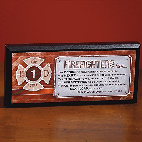 Abbey Gift Firefighters Mini Plaque Abbey Press 56718U Gifts NON-CLASSIFIABLE