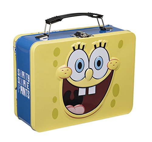 Spongebob Squarepants Toy Box (Vandor 21070 SpongeBob Square Pants Tin Tote, Large, Multicolored)