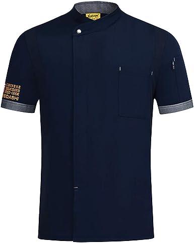 Freahap - Camiseta Camisa Cocina Chef Manga Corta para Verano Profesional Unisex, Uniforme de Chef de Moda, Chaqueta de Cocinero Camarero: Amazon.es: Ropa y accesorios