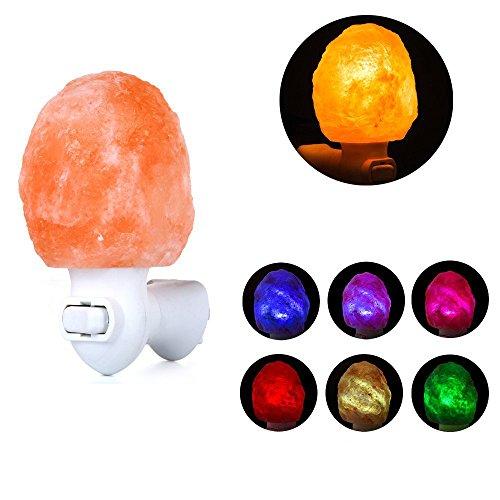 SMAGREHO Natural Crystal Himalayan Salt Lamp Night Light wit