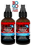 deer antler spray - #1 Rated MUSCLE FORCE EXTREME! | Two Bottle Pack | 400mg Proprietary Formula | Our Strongest Strength and Endurance Spray! | Improve Strength and Recovery | Two 2oz Spray Bottles | Free Shipping