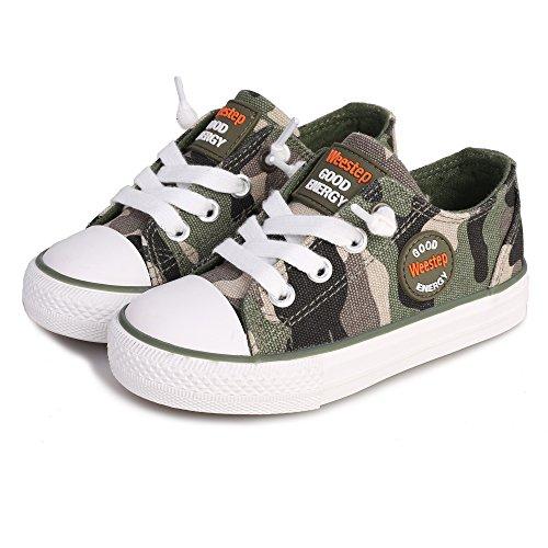 Weestep Canvas G Energy Sneaker (1, Dark Green)