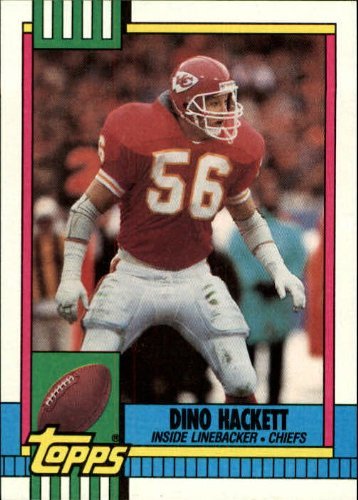1990 Topps Football Card #262 Dino Hackett Mint
