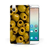STUFF4 Phone Case / Cover for Huawei Honor 7i/ShotX / Olives Design / Food Collection