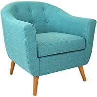 Rockwell Mid-Century Modern Accent Chair (Teal)
