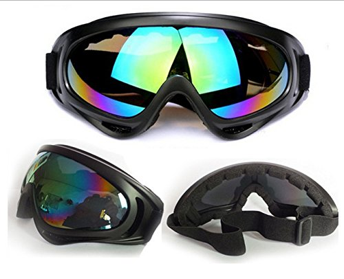 UV Protection Outdoor Sports Ski Glasses CS Army Tactical Military Goggles Windproof Snowmobile Bicycle Motorcycle Protective Glasses Ski Goggles (Black, Multi-color)