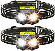 Rechargeable Headlamp, Bright 1000 lumen Headlight with Motion Sensor IPX5 Waterproof USB Rechargeable flashli