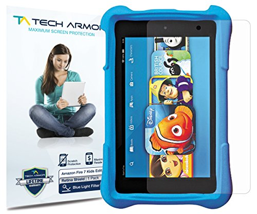 Amazon Kindle Fire Kids RetinaShield Screen Protector, Tech ArmorPremium Blue Light Filter Amazon Kindle Fire 7