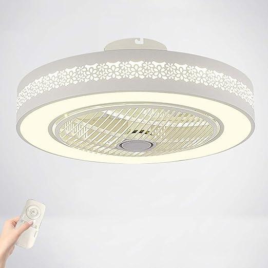 Wandun Ventiladores para el techo con lámpara LED Luz del ...