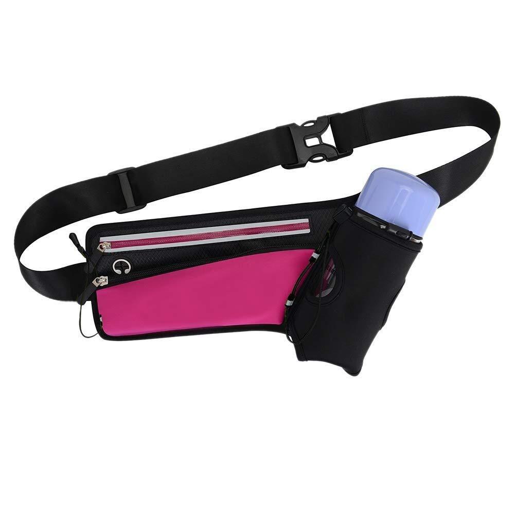Cinturino regolabile Cintura riflettente Portabottiglie Marsupio per gli Appassionati di Spor rosa rossa Accessori Sportivi Marsupio da corsa Cintura sportiva traspirante elastica Marsupio Runner