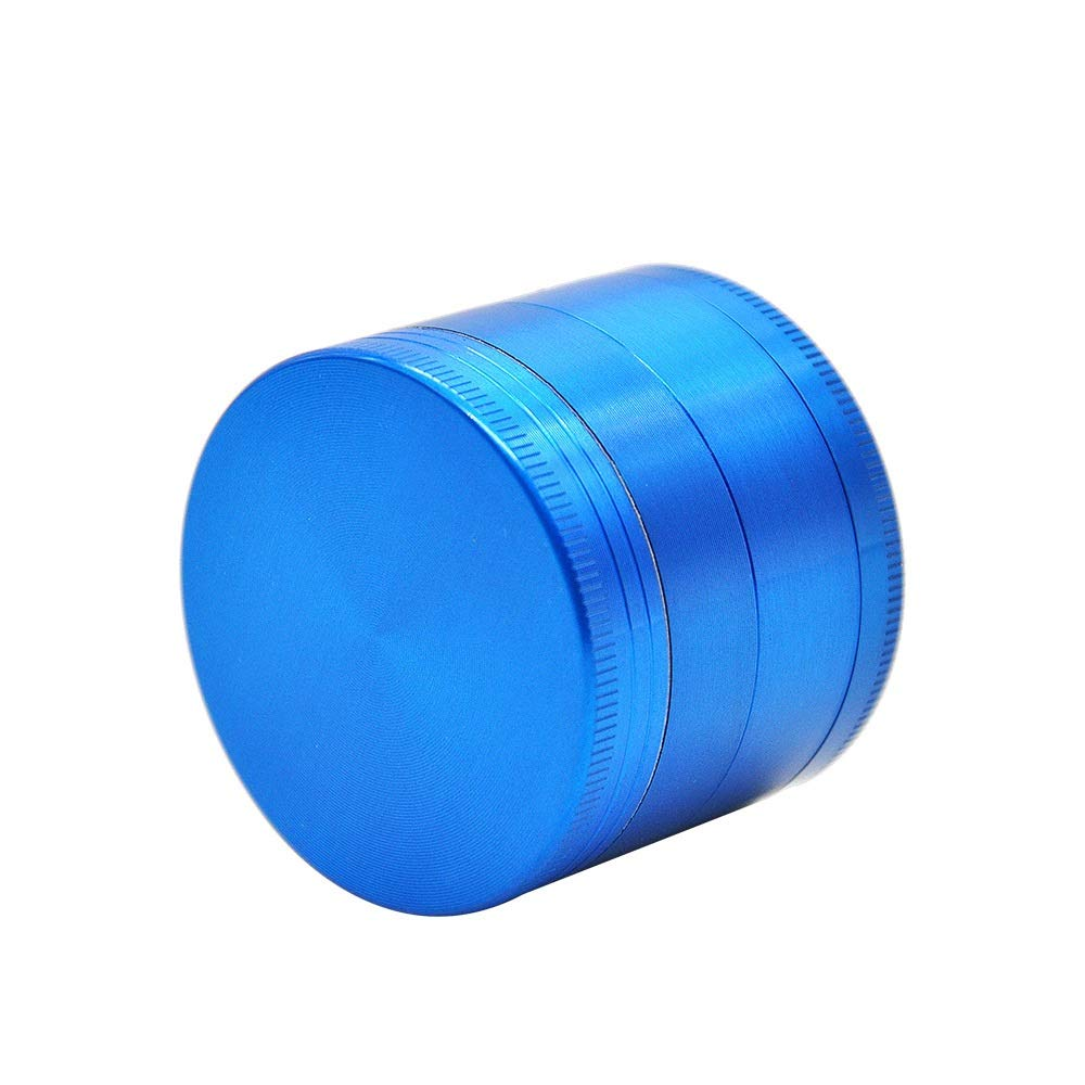 Yzyamz Herb Grinder, Aluminum Alloy 4-layer Metal Flat Plate Smoker Smoker Manual Grinding Desktop Bench Grinder 2 Inches (50Mm) (Color : Blue) by Yzyamz