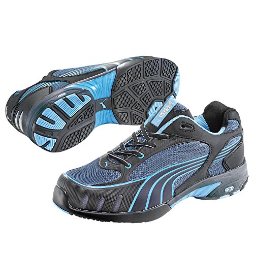 Puma Safety Shoes Fuse Motion Blue Wns Low S1 HRO, Puma 642820-256 Damen Espadrille Halbschuhe Schwarz (schwarz/blau 256)