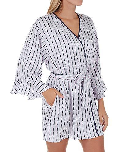 - Kate Spade New York Floating Hearts Charmeuse Robe (KS41663) XS/S/Striped Hearts