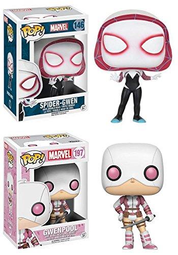 Funko POP! Marvel: Spider-Gwen + Gwenpool - Vinyl Bobble-Head Figure Set NEW