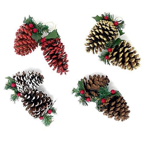 Decorative Floral Ornament (Christmas Decorative 45 pc Small Pinecones or 8 pc Pinecone Ornaments (Pinecone Ornaments))