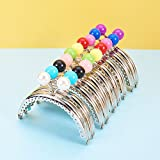 PH PandaHall 10pcs Colored Purse Frame Bag Kiss