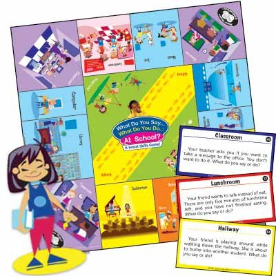 What Do You Say... What Do You Do... At School? Social Skills Board Game - Super Duper Educational Learning Toy for Kids Super Duper® Publications GB-241