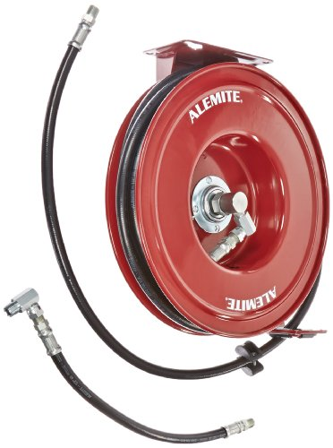 Alemite 8078-D Heavy-Duty Hose Reel, Heavy Duty Hose Reels, 50' Hose Length, 1/2