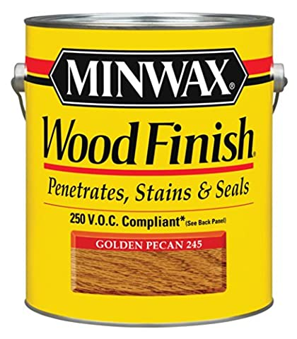 Minwax 710840000 Wood Finish - Penetrates, Stains & Seals, 250 VOC, gallon, Golden Pecan - Wd Wood Finishes