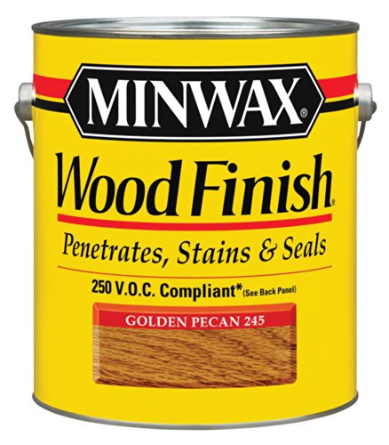 Minwax 710840000 Wood Finish - Penetrates, Stains & Seals, 250 VOC, gallon, Golden -