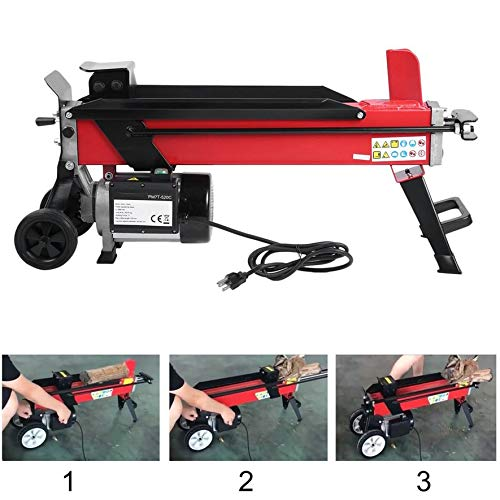 Belovedkai Electric Hydraulic Log Splitter, 7-Ton Firewood Wood Chopping Cutter Machine 110V 1500W