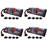 Venom 8.4V 5000mAh 7-Cell Hump NiMH Battery with Universal Plug (EC3/Deans/Traxxas/Tamiya) x4 Packs