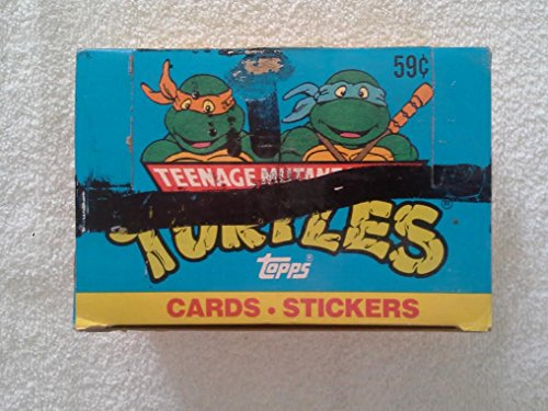 1990 Teenage Mutant Ninja Turtles Trading Cards Wax Box 24 Count