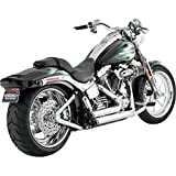 Vance & Hines Chrome Shortshots Staggered Exhaust 86-11 Harley Softail 17221