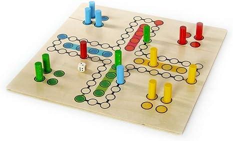 Juego de mesa de madera hacia fuera uno del juego del juego de sala con usted (4 jugadores) L/B/H 500X500X420 milímetro de NUEVO: Amazon.es: Bebé