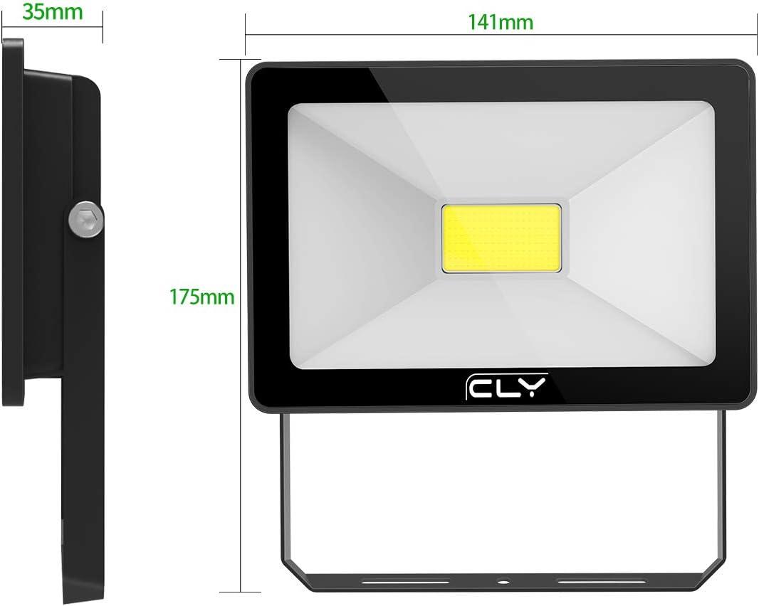 CLY LED Strahler 100W Scheinwerfer Au/ßenstrahler IP66 f/ür au/ßen und innen,6500K kaltes Wei/ß Au/ßenleuchte Fluter Strahler 10000LM f/ür Garage Garten Hinterhof