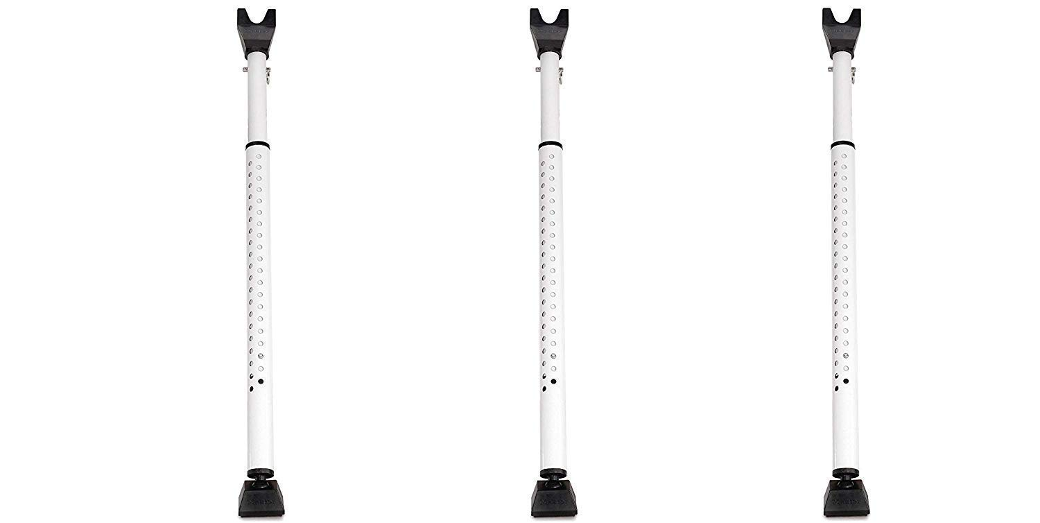 Master Lock 265D Door Security Bar, Adjustable from 27-1/2 in. to 44-1/2 in, White, (Pack of 3)