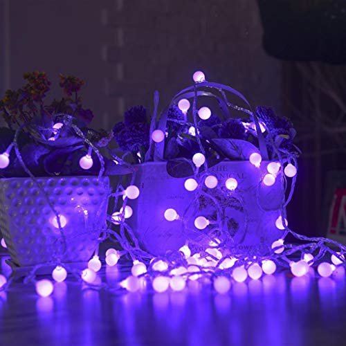 RICH-Po LED Plug Ball Lamp Ball Light Christmas Festival Prom 10M100 Interior Decoration Curtain Lamp (Purple) -