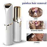 flawless 18k Golden Facial Hair Remover , Seed Women's Face Lipstick Light Painless Remover Finishing Touch Face Finishing Touch Flawless - Battery Not Included