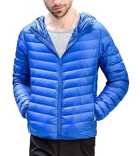 Zip Jacket Mens Coat GladiolusA Full Lightweight Sapphire Winter Warm Blue Hooded pn77qCO1