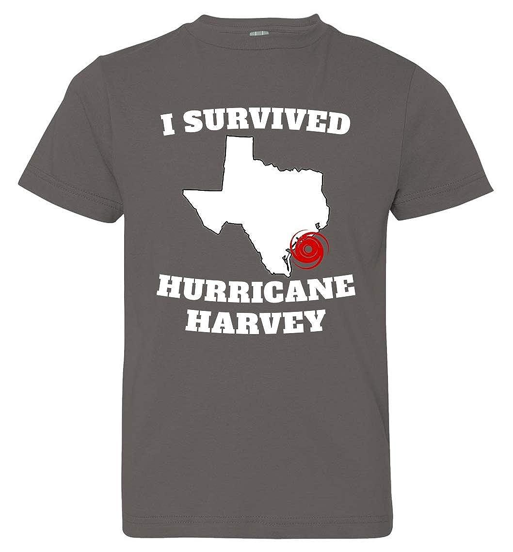 Tenacitee Boys Youth I Survived Hurricane Harvey T-Shirt